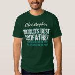 World's Best Godfather Custom Name V30 T-shirt