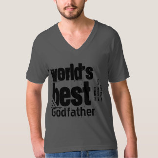 World's Best Godfather or Any Family Role Gray Shirt