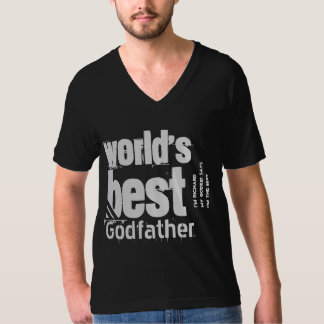 World's Best Godfather or Any Role Black White T-Shirt