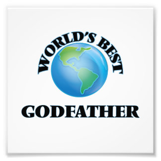World's Best Godfather Photo Print
