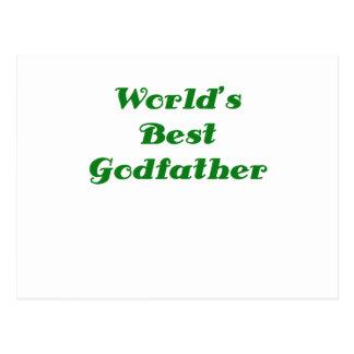 Worlds Best Godfather Postcard