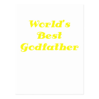 Worlds Best Godfather Post Cards