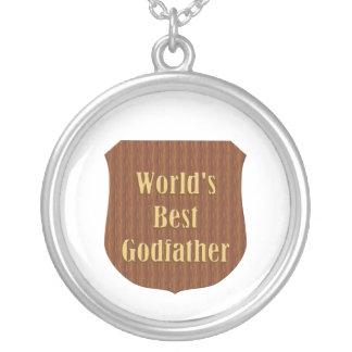 World's Best Godfather Round Pendant Necklace