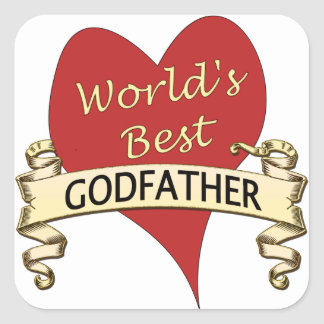 World's Best Godfather Square Sticker
