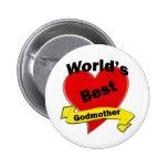 World's Best Godmother 2 Inch Round Button