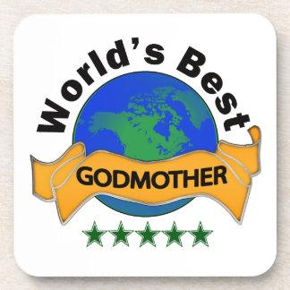World's Best Godmother Beverage Coaster