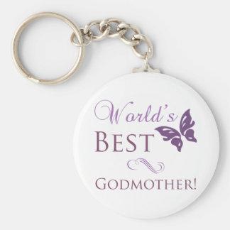 World's Best Godmother Keychain