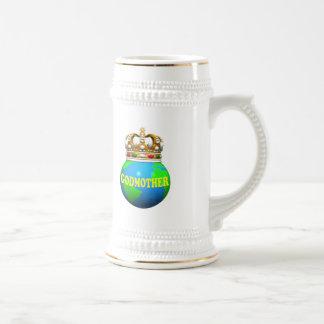 World's Best Godmother Mothers Day Gifts 18 Oz Beer Stein