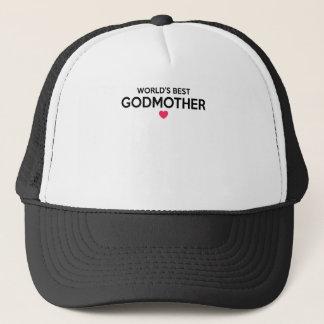 World's Best Godmother - Newborn Baby Christening Trucker Hat