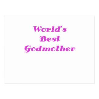 Worlds Best Godmother Postcard