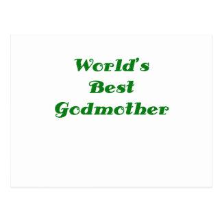 Worlds Best Godmother Post Card