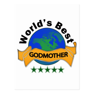 World's Best Godmother Post Card