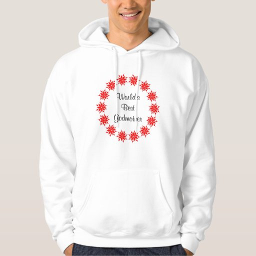 World's Best Godmother (red) Hoody