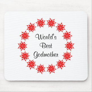 World's Best Godmother (red) Mouse Pad