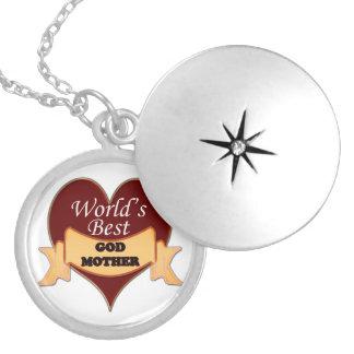 World's Best Godmother Round Locket Necklace