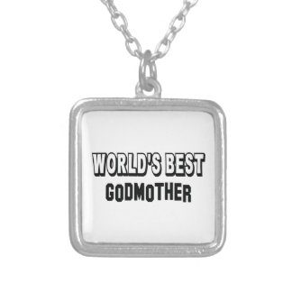 World's best Godmother Silver Plated Necklace