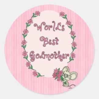 Worlds Best Godmother Sticker