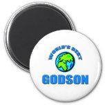 World's Best Godson 2 Inch Round Magnet
