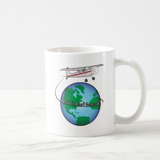 World's Best Godson with Airplane Coffee Mug