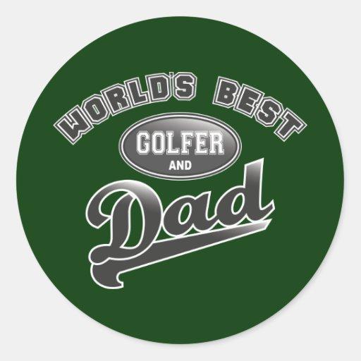 World's Best Golfer & Dad Classic Round Sticker