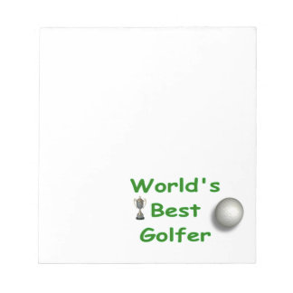 World's Best Golfer Notepad