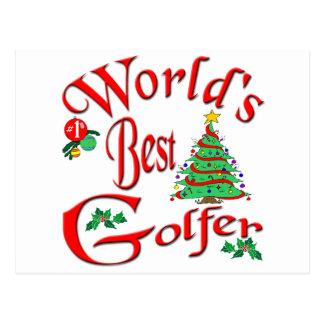 World's Best Golfer Postcard