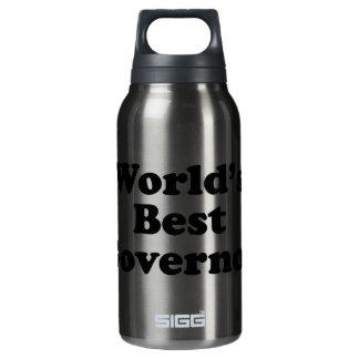 World's Best Governor Insulated Water Bottle