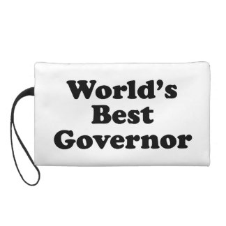 World's Best Governor Wristlet Purse