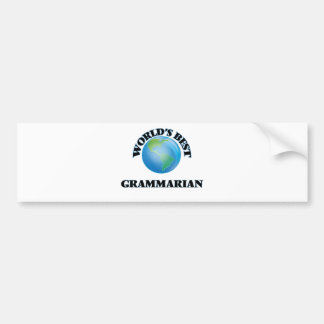 World's Best Grammarian Car Bumper Sticker