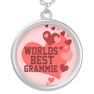 World's Best Grammie (or any name) Silver Plated Necklace