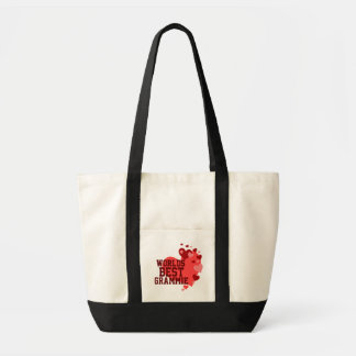 Worlds Best Grammie Personalized Tote Bag