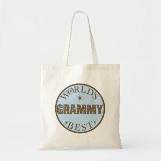 Worlds Best Grammy Gift Tote Bag