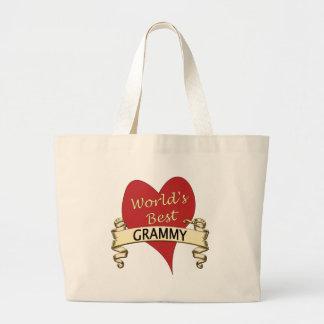 World's Best Grammy Large Tote Bag