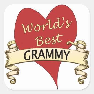 World's Best Grammy Square Sticker
