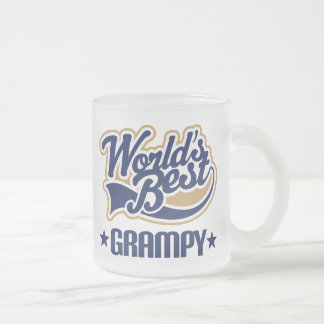 Worlds Best Grampy Frosted Glass Coffee Mug