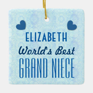 World's Best GRAND NIECE with Hearts A035a Ceramic Ornament