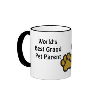 World's Best Grand Pet Parent Ringer Mug