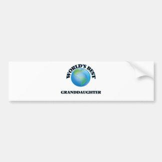 World's Best Granddaughter Bumper Stickers