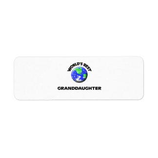 World's Best Granddaughter Return Address Label