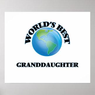 World's Best Granddaughter Poster