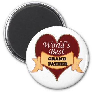 World's Best Grandfather 2 Inch Round Magnet