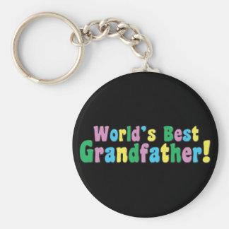 World's Best Grandfather Basic Round Button Keychain
