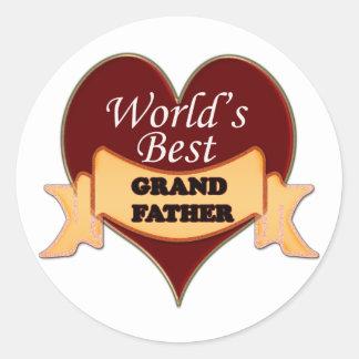 World's Best Grandfather Classic Round Sticker