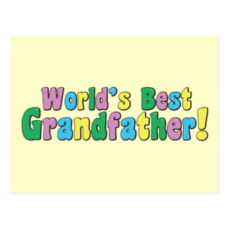 World's Best Grandfather Postcard