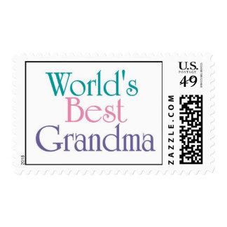 Worlds Best Grandma 1 Stamp