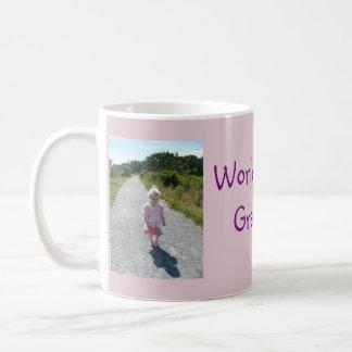 World's Best Grandma 2 Photo Collage Mug in Pink