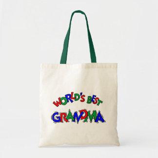 World's Best Grandma Budget Tote Bag