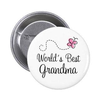 World's Best Grandma Butterfly Gift Buttons