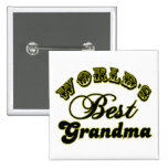 World's Best Grandma Button and Apparel 2 Inch Square Button