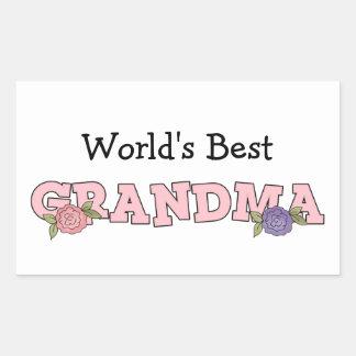 World's Best Grandma (Customizable) Rectangular Sticker